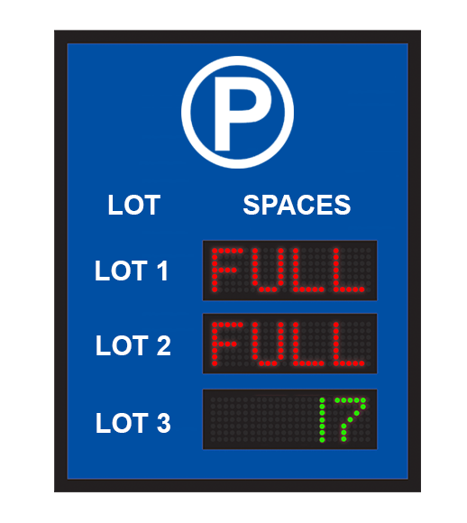 Multi-Lot VMS Sign