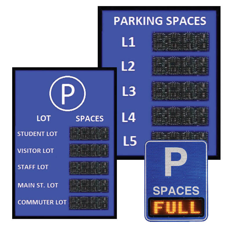 OpenSpace VMS Parking Counting Signs