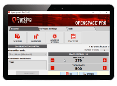 OpenSpace Pro Software loaded on Tablet