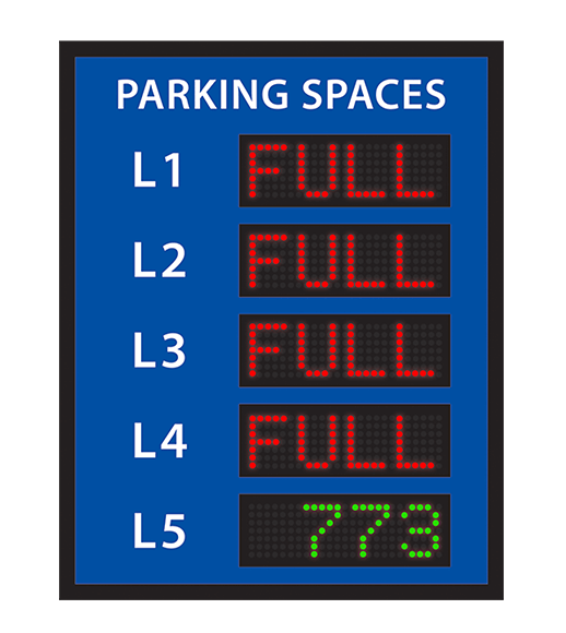 Multi Level parking VMS sign